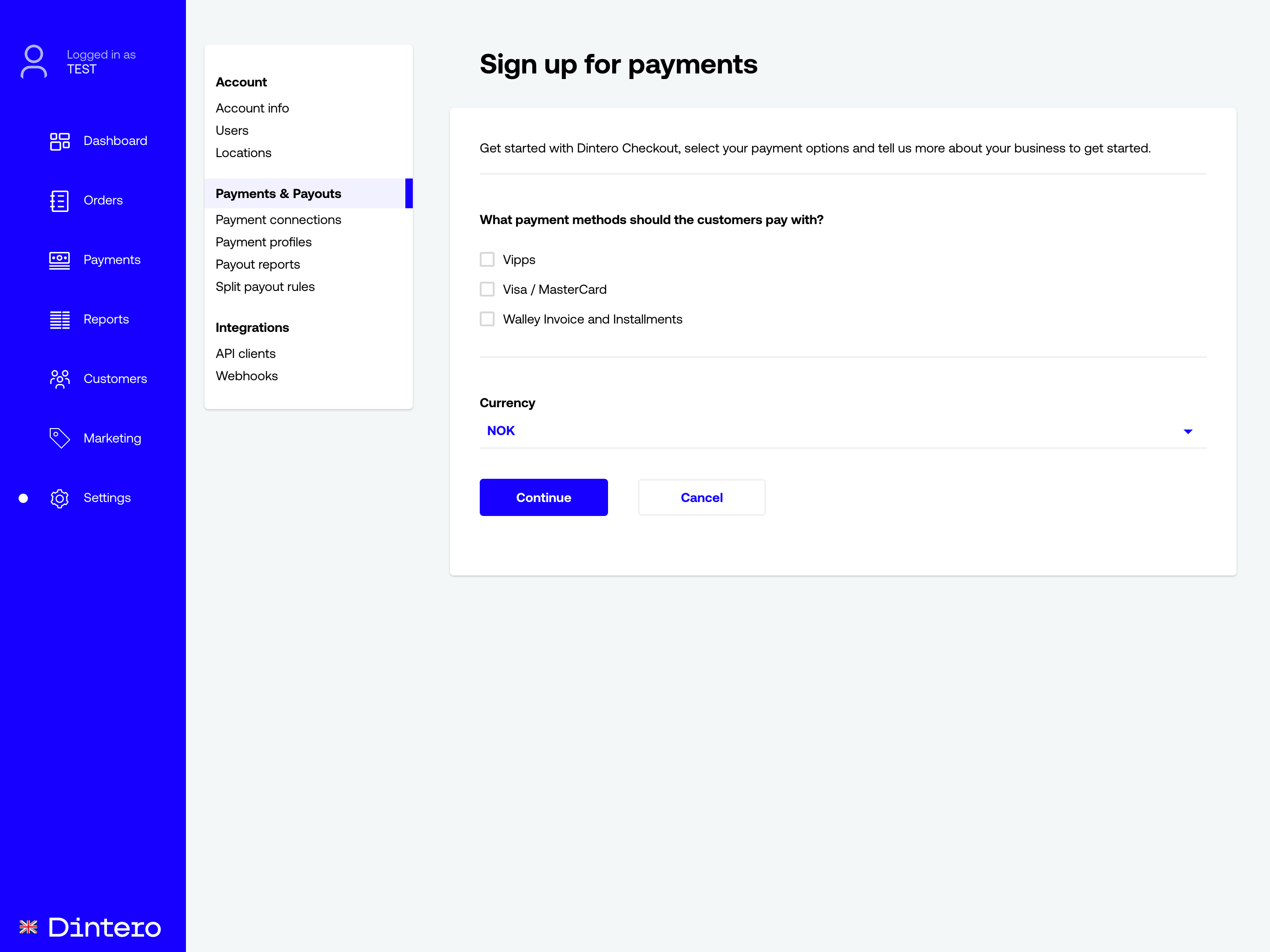Payment connections